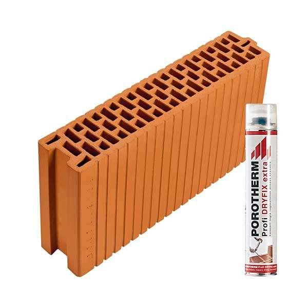 Porotherm Profi + Dryfix 12 N+F tégla
