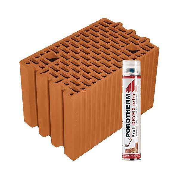Porotherm Profi + Dryfix 25 N+F tégla