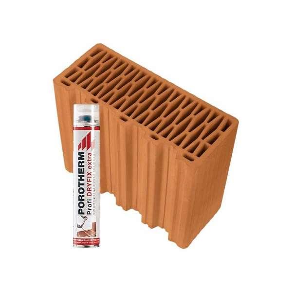 Porotherm 30 Feles tégla + Profi Dryfix