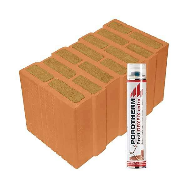 Porotherm Profi + Dryfix 44 Thermo tégla