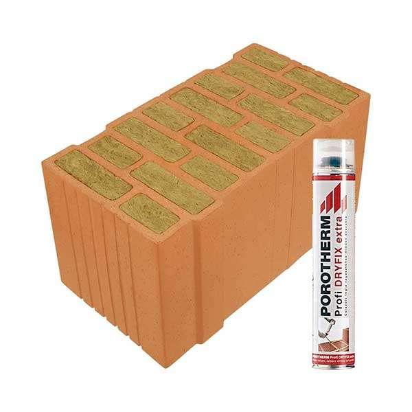 Porotherm Profi + Dryfix 50 Thermo tégla